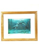 Ray Rolston Key West Florida Artist Signed Dated Sea Life Manatee Framed... - $52.35