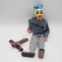 Vintage Walt Disney Donald Duck Marionette Puppet Handmade - $102.95