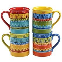 Certified International Valencia Mugs Set of 4, 16 oz, Multicolor