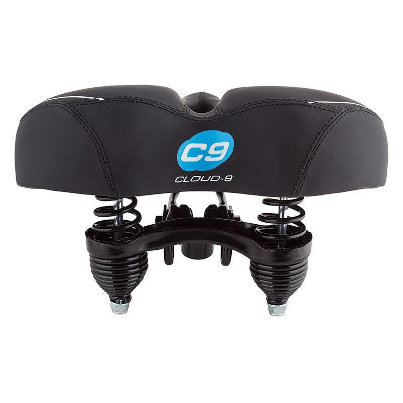 CLOUD 9 CRUISER SOFA SOFT TOUCH VINYL BLACK BICYCLE SADDLE SEAT