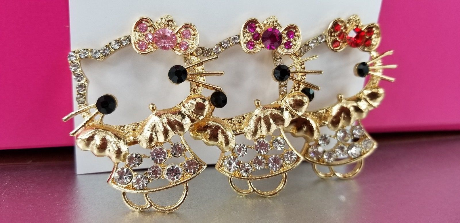 Primary image for Hello Kitty Crystal Pins 3 colors to choose from Free Standard Shipping