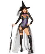 Roma 2pc Sexy Dark Black Magic Witch Wet Look Long Sleeve Bodysuit Costu... - €75,02 EUR