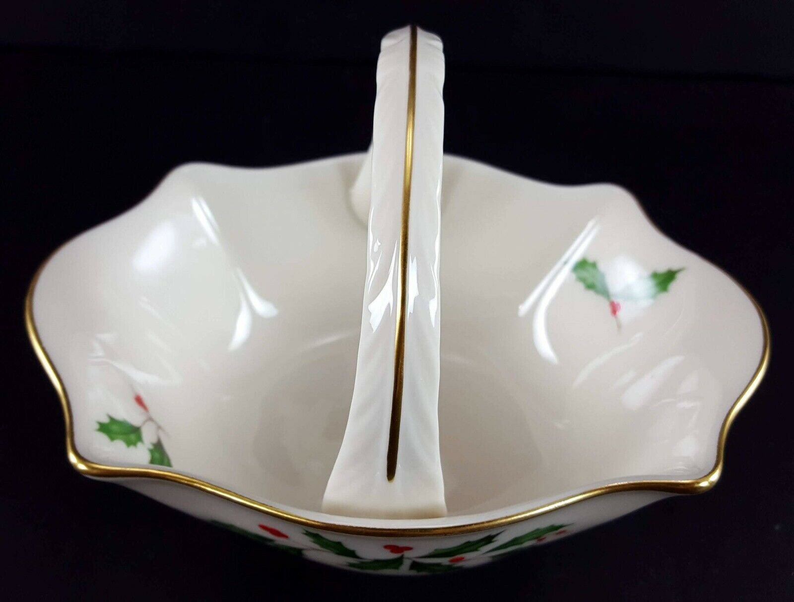 "LENOX China Holiday Dimension Small Basket 4-1/2"" Across Dinnerware image 2"