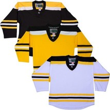 Team Lot/Set Of 10 Boston Bruins Tron Hockey Jerseys Blank Or With Name & Number - $225.97+