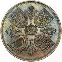 1953 UNITED KINGDOM 5 SHILLINGS CORONATION UNIQUE COLOR BU UNC TONED (MR) - $197.99