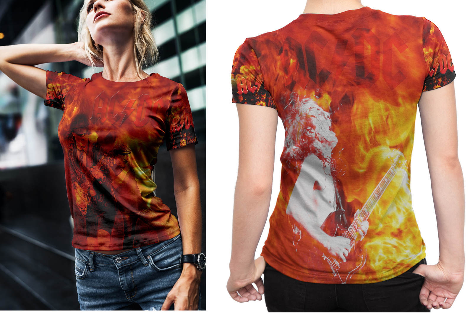 Primary image for ACDC Collection #2 Women's Fullprint T-Shirt