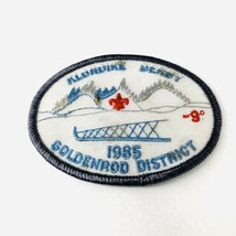 Vintage BSA Boy Scouts of America Patch Goldenrod District 1985 Klondike Derby - $19.00