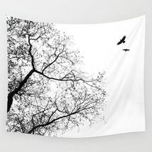 Wall Tapestry Wall Hanging Printed USA Design 24 tree bird black white L... - $1.010,55 MXN+