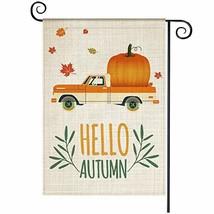 Hello Autumn Garden Flag, Welcome Vertical Double Sided Pumpkin Yard Fla... - $10.53