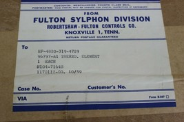 Fulton Sylphon 16797-A1, 96797-A1 Thermo Element New image 2