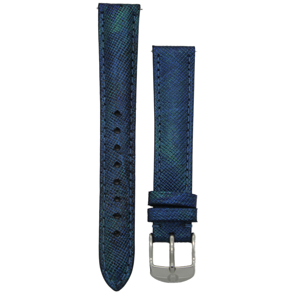 Primary image for Michele 16mm Dark Blue Genuine Saffiano Leather Strap MS16AA430401