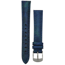 Michele 16mm Dark Blue Genuine Saffiano Leather Strap MS16AA430401 - $45.89