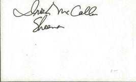 Irish McCalla Signed Vintage 3x5 Index Card JSA Sheena - $49.49