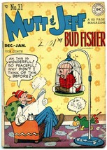 Mutt and Jeff #31 1947-Parrot cover- DC Golden Age- Bud Fisher FN - $55.87