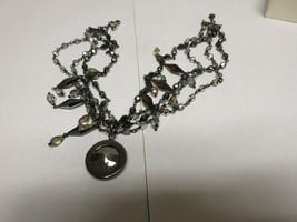 "Costume Jewelry ,Vintage ,Necklace, Glass , Pendant , 4 Strand , 15"" - $95.00"