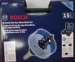 Bosch HSM15PCE 15pc Bi-Metal Hole Saw Sheet Metal Set - $39.60