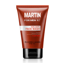 MARTIN Men's Cologne Scented Volcanic Mud Anti-Acne Moisturizing Face Wash - $13.98