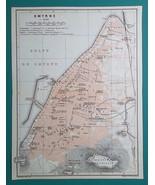 TURKEY Izmir Smyrna City Town Plan - 1911 MAP - $30.60