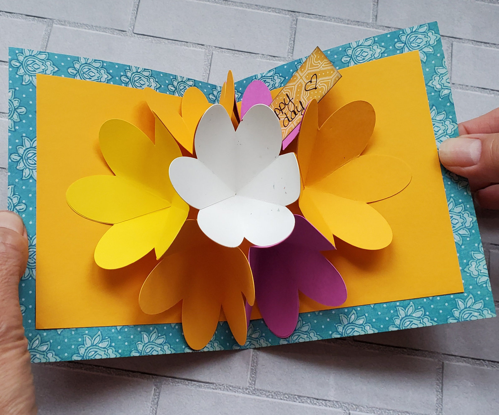 3D Pop-up Flower File.  Instant Download.  SVG & PDF Files.  No Physical Shippin