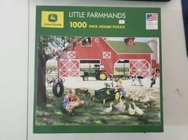 """Little Farm Hands 2007 John Deere License 1000-Pc Puzzle 19.25"""" X 26.5"""" - $15.83"""