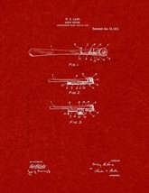 Screwdriver Patent Print - Burgundy Red - $7.95+