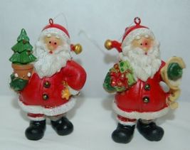 Generic 4 Different Santa Christmas Ornament Set 3 Inches image 3
