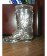 Jim Beam Bourbon Whiskey Boot Shot Glass Shooter Thick Heavy Solid Glass... - $12.86