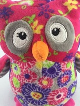 """Mary Meyer Plush Owl Purple Pink Floral Flowers Stuffed Toy 7"""" Tall image 2"""