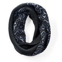 Simply Vera Vera Wang Fairisle Infinity Scarf, Black - £10.66 GBP