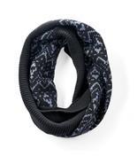 Simply Vera Vera Wang Fairisle Infinity Scarf, Black - $323,14 MXN