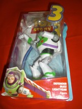 "DISNEY/PIXAR TOY STORY 3 DEFENDER BUZZ LIGHTYEAR 5"" POSABLE ACTION FIGUR... - $11.99"