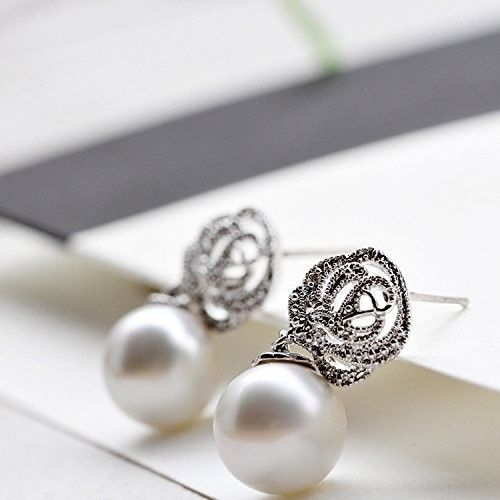 IXIQI Pearl Stud Earrings Studs Gifts Present For Christmas Women Girls Ladies