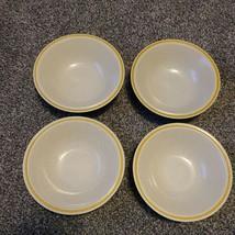 4 Hearthside Garden Festival Prairie Flowers Stoneware 6.5 Cereal Bowls Yellow - $23.99