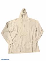 Fruit Of The Loom Long Sleeve Hooded Shirt White Men XL (FITS LIKE A LAR... - $6.62