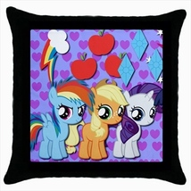 Throw pillow case pony small horse cute kawaii childish baby room ponies... - $19.50