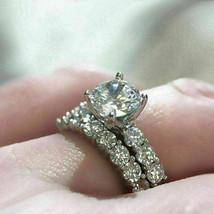 3.00Ct Round White Diamond Engagement Wedding Bridal Ring Set in 14K Whi... - €271,99 EUR