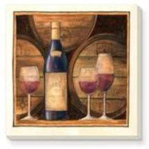 "CounterArt Absorbent Coaster Set (4) Barrels of Wine Wood Holder - 4"" square - $17.95"
