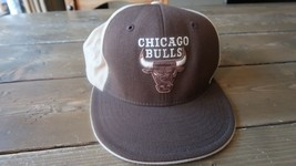 Chicago Bulls Reebok Brown Hat Size 7 3/8 - £9.58 GBP