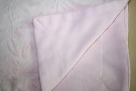 Pink Minky Baby Girls Blanket Flowers Leaves Fleece Raised Soft Security... - $19.22