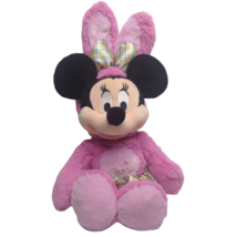 Disney Store Minnie Mouse Plush Pink Easter Bunny Outfit Rabbit Ears Pla... - $22.05