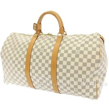 LOUIS VUITTON Keepall 50 Damier Azur N41430 Boston Bag France Authentic ... - $960.11