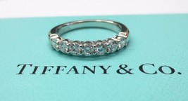 Tiffany & Co. Platinum .56 .57 Diamond 3MM Shared Setting Wedding Band Ring Us 8 - $3,450.00