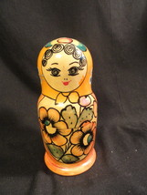 3 PC Matryoshka Russian Wooden Handmade Nesting... - $19.99