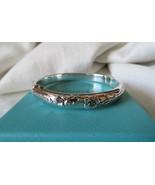 Tiffany & Co. 2003 Sterling Silver Nature Rose Hinged Bangle Bracelet~B ... - $370.00