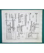 PUMPS Lift Mining Hydraulic Stephenson's Reichenbach's - 1844 Superb Print - $9.00