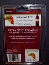 Pack Of 2 Turning Leaf California Extra Wine Bottle Sealers TL1790BK New (O) image 2