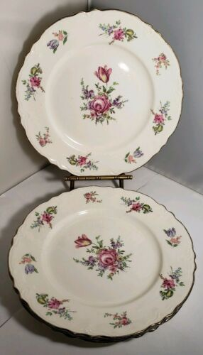 """Homer Laughlin Household Institute Priscilla 4 SALAD PLATE or LUNCH PLATE 9"""""""