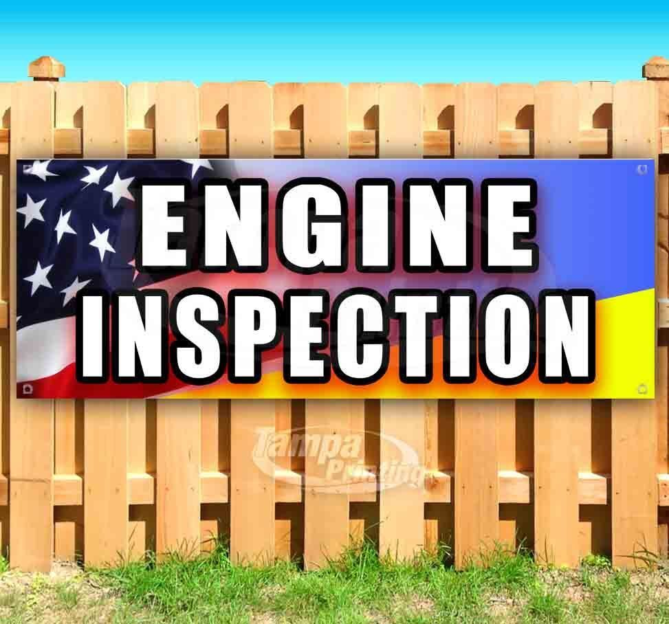 Primary image for ENGINE INSPECTION Advertising Vinyl Banner Flag Sign Many Sizes MECHANIC REPAIR