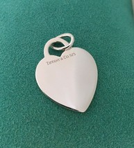 Tiffany & Co Sterling Silver Blank Heart Tag Charm or Pendant - $59.99
