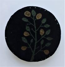 1800s antique victorian FRAKTUR PAINTED VELVET CUSHION pin sewing hat de... - $175.00